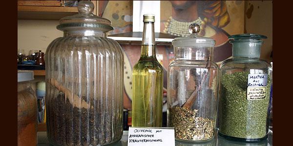 Gewürzladen - Olivenöl und Tees